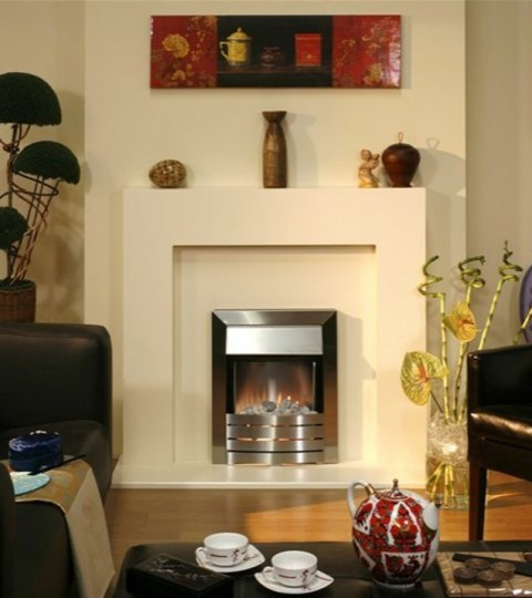 GENOA IVORY ELECTRIC FIRE SUITE
