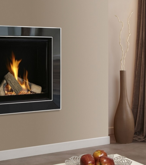 COLLECTION BY MICHAEL MILLER ASENCIO HE GLASS FRONTED HOLE IN THE WALL GAS FIRE