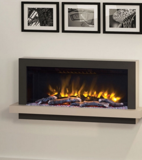 ELGIN & HALL HUXTON 41″ PRYZM WALL MOUNTED ELECTRIC SUITE-CASHMERE & ANTHRACITE