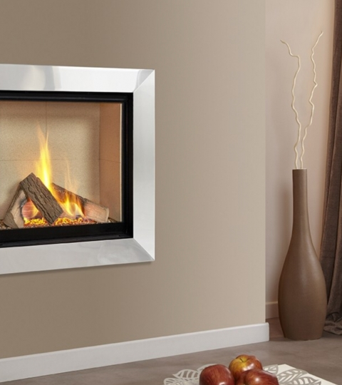 COLLECTION BY MICHAEL MILLER ASENCIO HE GLASS FRONTED HOLE IN THE WALL GAS FIRE-CREAM INTERIOR