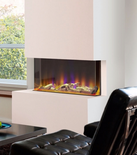 CELSI 3 SIDED ELECTRIFLAME VR 750 INSET ELECTRIC FIRE