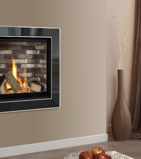 COLLECTION BY MICHAEL MILLER ASENCIO HE GLASS FRONTED HOLE IN THE WALL GAS FIRE-BRICK INTERIOR