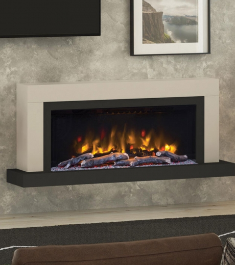 ELGIN & HALL VARDO 57″ PRYZM WALL MOUNTED ELECTRIC SUITE-CASHMERE & ANTHRACITE