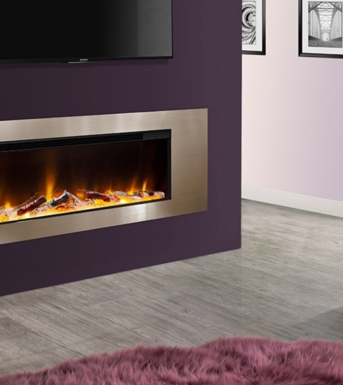 CELSI ELECTRIFLAME VR METZ CHAMPAGNE WALL MOUNTED ELECTRIC FIRE