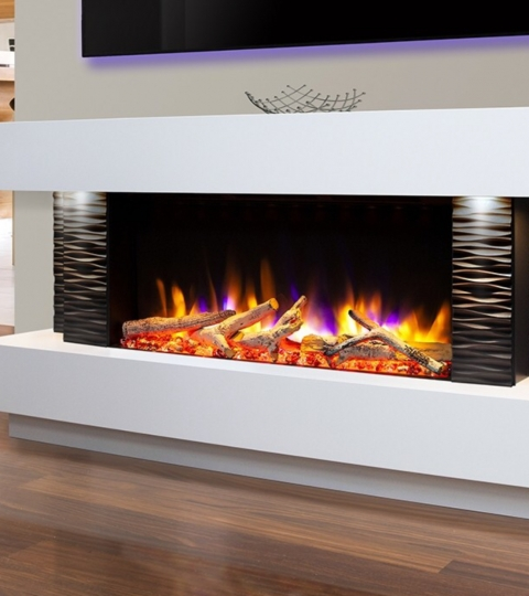 CELSI ULTIFLAME VR GEMMA 800 TEXTURED BLACK/ WHITE  ILLUMINA 58″ ELECTRIC SUITE.