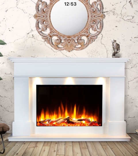 CELSI ULTIFLAME VR ADOUR ALEESIA SMOOTH WHITE ILLUMINA 58″ ELECTRIC SUITE.