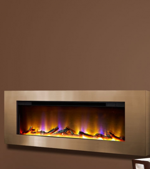 CELSI ELECTRIFLAME VR BASILICA CHAMPAGNE WALL MOUNTED ELECTRIC FIRE