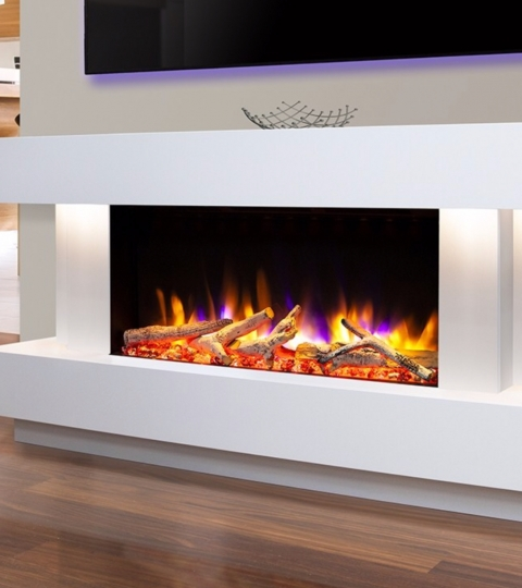 CELSI ULTIFLAME VR GEMMA 800 SMOOTH WHITE  ILLUMINA 58″ ELECTRIC SUITE.