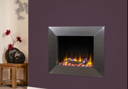 CELSI ULTIFLAME VR IMPULSE SILVER WALL MOUNTED INSET ELECTRIC FIRE