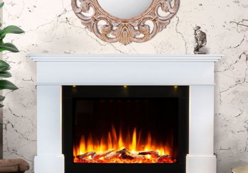 CELSI ULTIFLAME VR ADOUR ALEESIA SMOOTH WHITE/BLACK  ILLUMINA 58″ ELECTRIC SUITE.