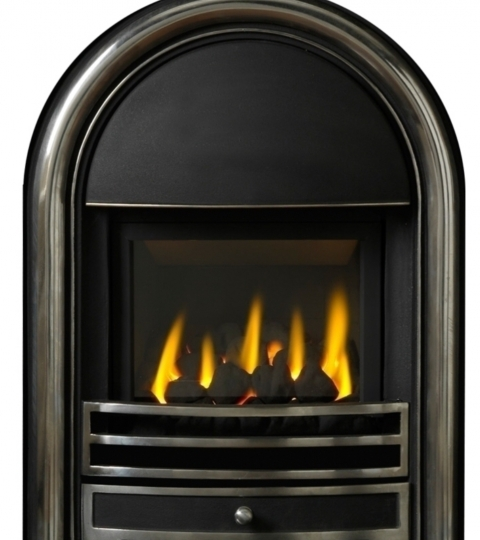 APPOLO OPEN FRONTED GAS FIRE INSET H/L CAST FRONT