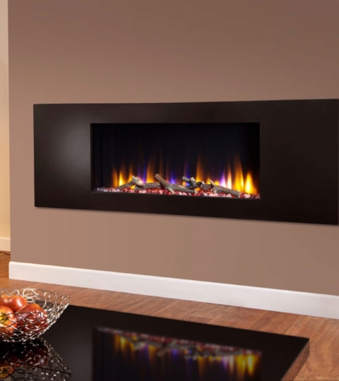 CELSI ULTIFLAME VR METZ BLACK WALL MOUNTED INSET ELECTRIC FIRE
