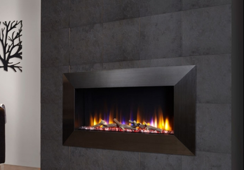 CELSI ULTIFLAME VR INSTINCT BLACK WALL MOUNTED INSET ELECTRIC FIRE