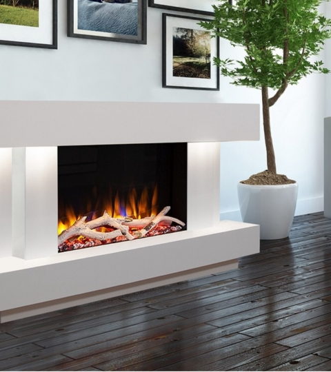 CELSI ULTIFLAME VR GEMMA 600 SMOOTH WHITE  ILLUMINA 47″ ELECTRIC SUITE.