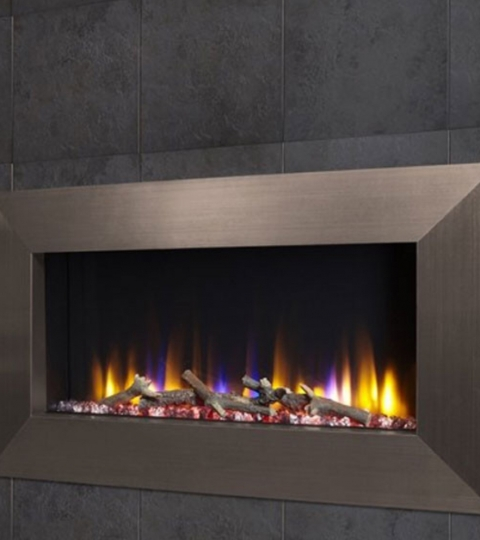 CELSI ULTIFLAME VR INSTINCT CHAMPAGNE  WALL MOUNTED INSET ELECTRIC FIRE