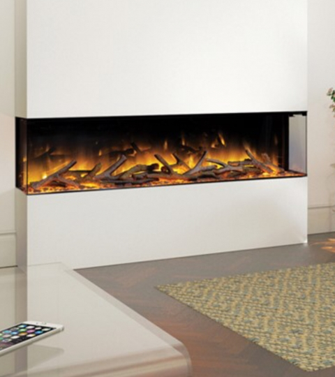 FLAMERITE FIRES GLAZER 1500 3-SIDED WALL MOUNTED ELECTRIC FIRE