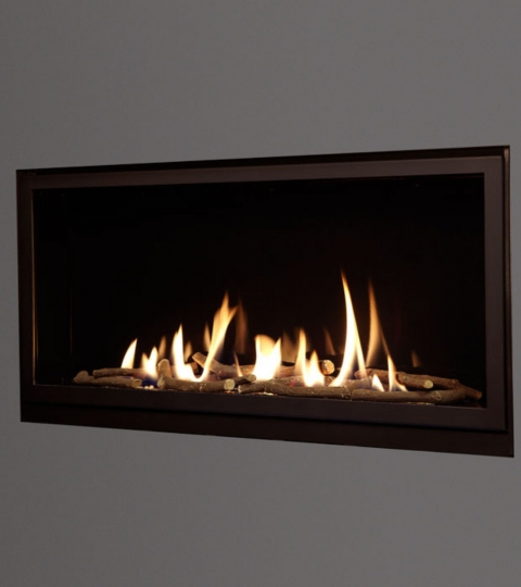 COLLECTION BY MICHAEL MILLER EDEN ELITE SLIMLINE BALANCED FLUE GLASS FRONTED HOLE IN THE WALL GAS FIRE
