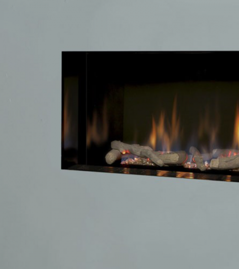 COLLECTION BY MICHAEL MILLER ATINA HE GLASS FRONTED HOLE IN THE WALL GAS FIRE