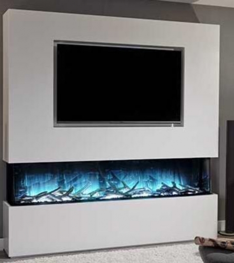 FLAMERITE FIRES GLAZER NITRA FLAME 1800 3-SIDED WALL MOUNTED ELECTRIC FIRE
