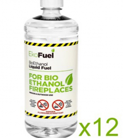 BIO ETHANOL FUEL FOR FIREPLACES-12 LITRES